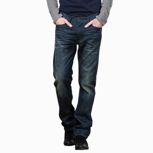 五袋款513系列男士修身直筒水洗牛仔裤