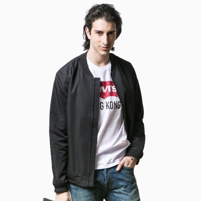【新品】Line 8系列男士立领黑色夹克外套