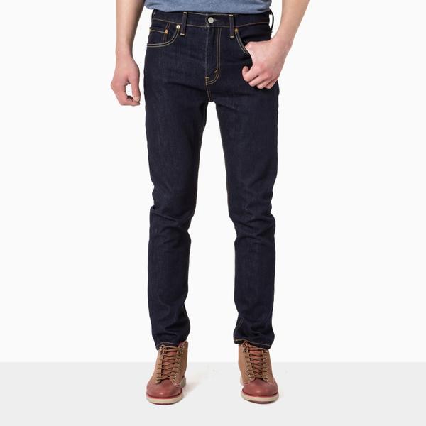 510系列男士原色紧身窄脚深色水洗牛仔裤